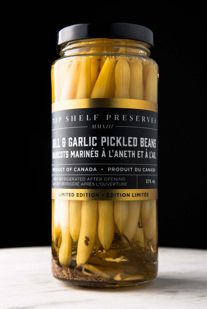 Top Shelf Preserves- Dill & Garlic Pickled Beans (375ml)