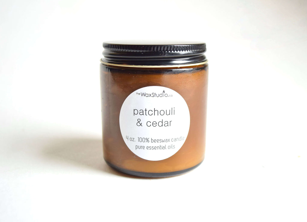 The Wax Studio- Patchouli & Cedar Jar Candle