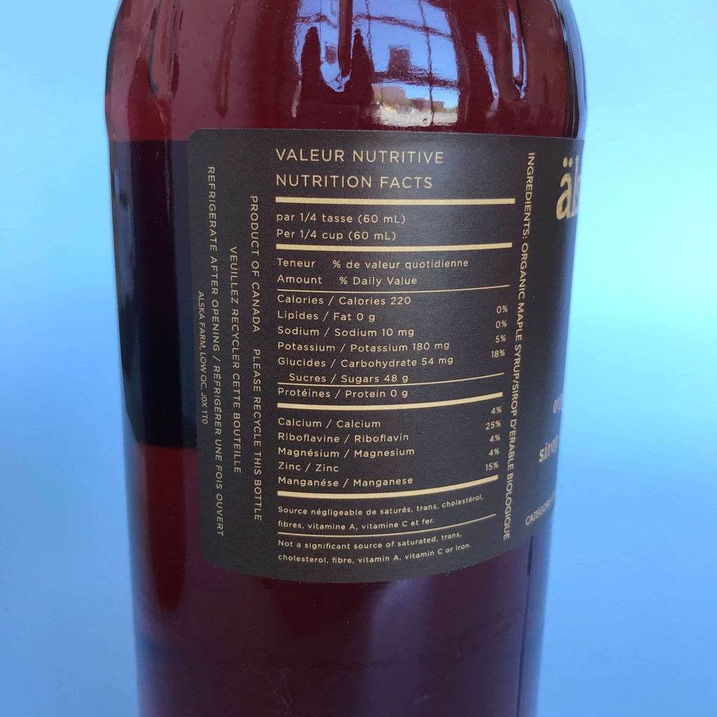 Älska Farm- Amber Organic Maple Syrup 1 gallon