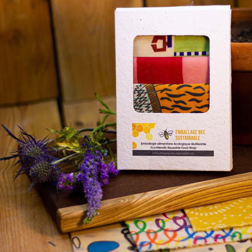Emballage Beeswax Food Wraps - Food Wraps (3) in Wildflower Seed Paper