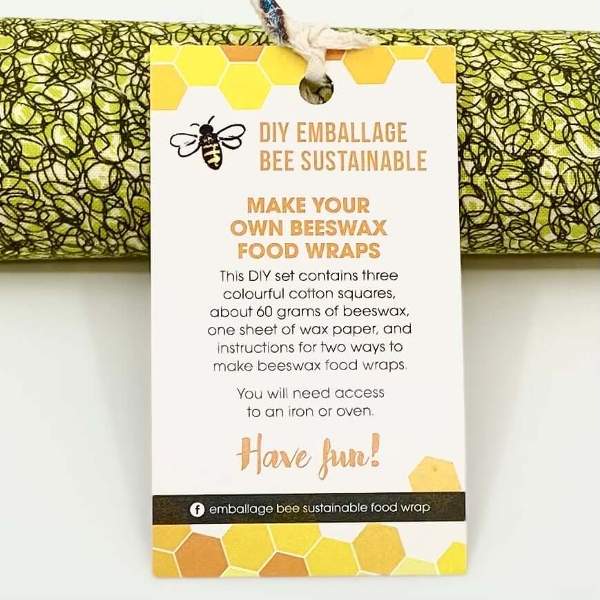 Emballage Beeswax Food Wraps - DIY Sustainable Kit (3)