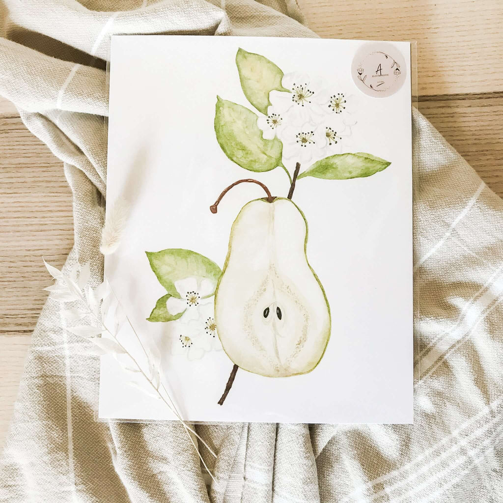 "A Bloom Made- ""Pear Blossom"" Print"