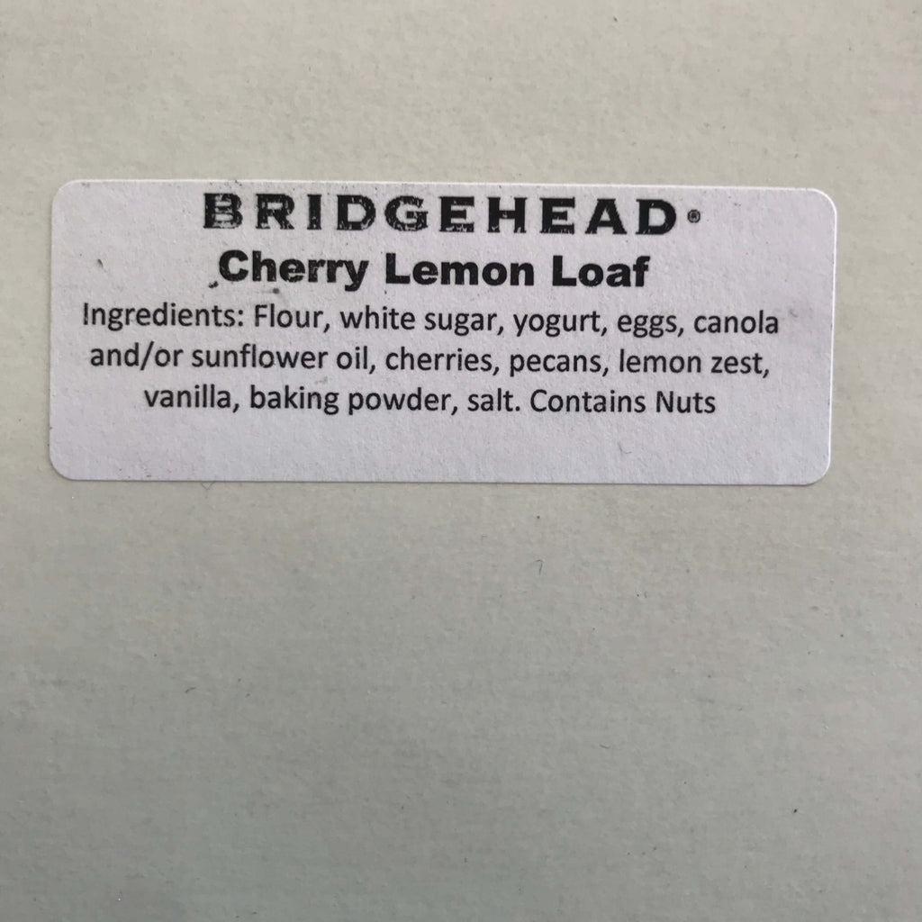 Bridgehead- Cherry Lemon Loaf (8 slices)