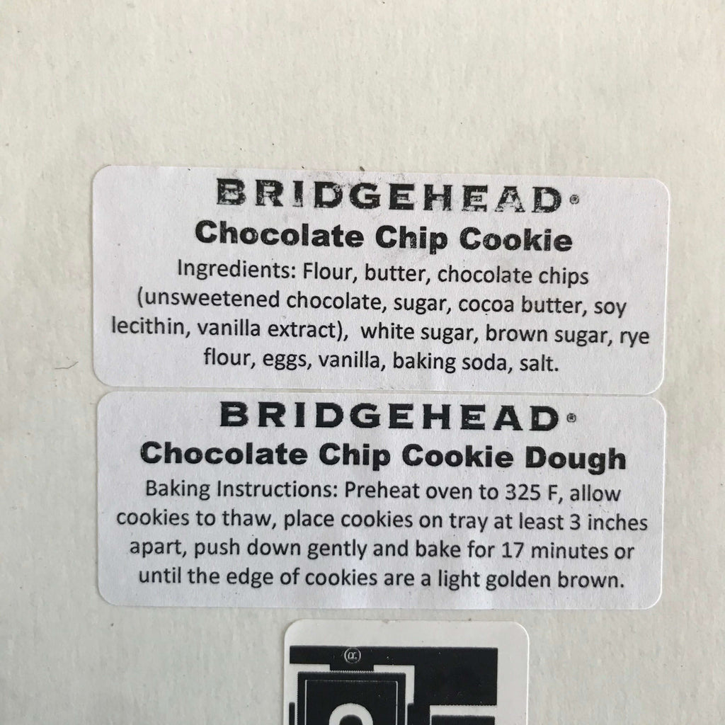 Bridgehead- Cookie Dough (12 cookies)