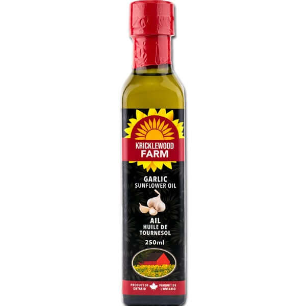 Kricklewood Farm- Garlic Sunflower Oil 250mL