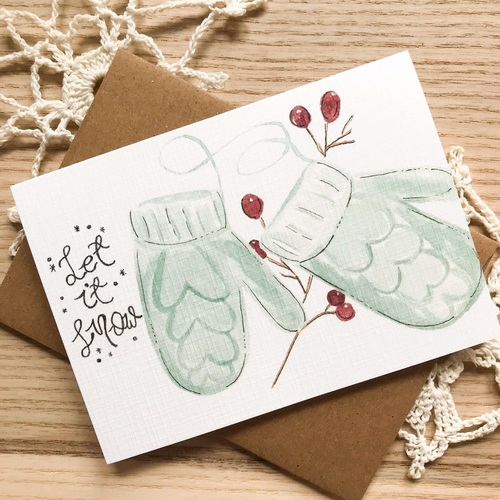 "A Bloom Made- ""Let It Snow"" Holiday Card"