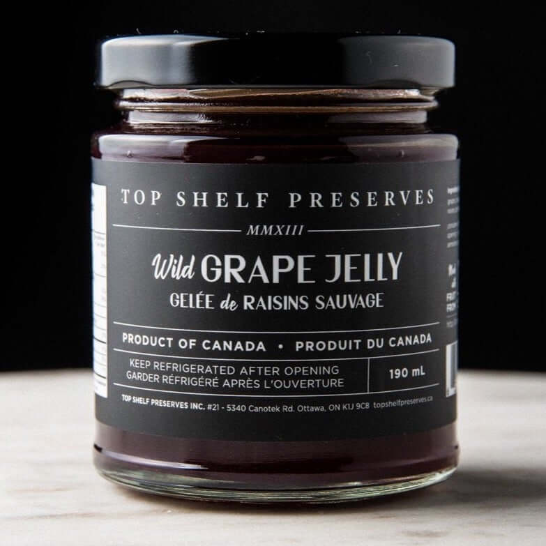 Top Shelf Preserves- Wild Grape Jelly 190mL