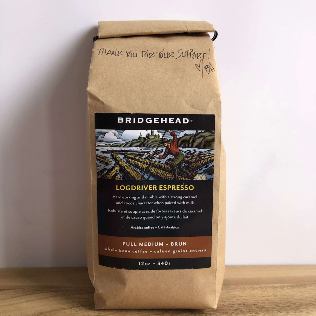 Bridgehead- Logdriver Espresso Ground/Whole Beans (12oz bag)