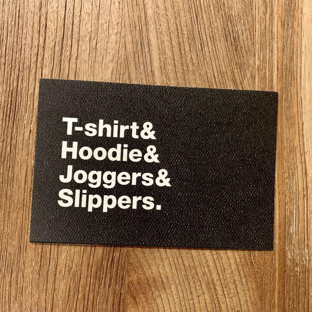 Moistly Speaking- COVID cards (T-shirt & Hoodie & Joggers & Slippers.)