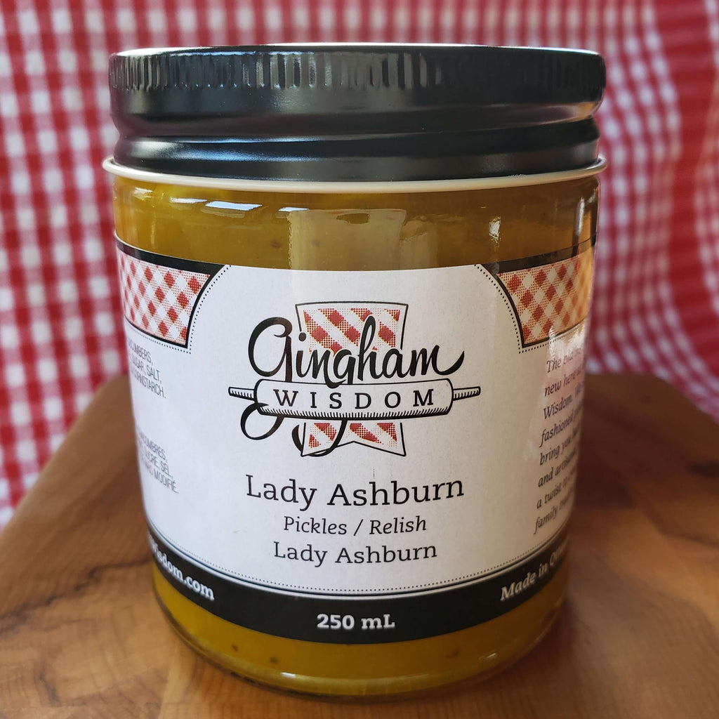 Gingham Wisdom- Lady Ashburn Pickles 250mL