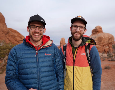 Andy and Aaron in Arches National Park
