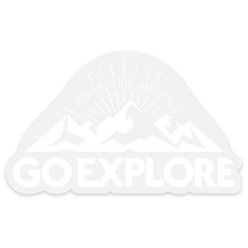 Go Explore Clear [Sticker] - CoLab. Print