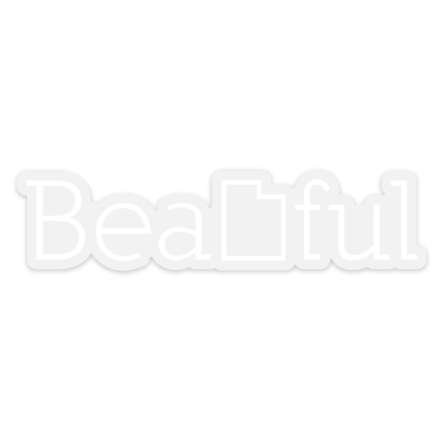 BeaUTAHful Clear [Sticker] - CoLab. Print