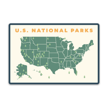 59 Parks Map [Sticker] - CoLab. Print