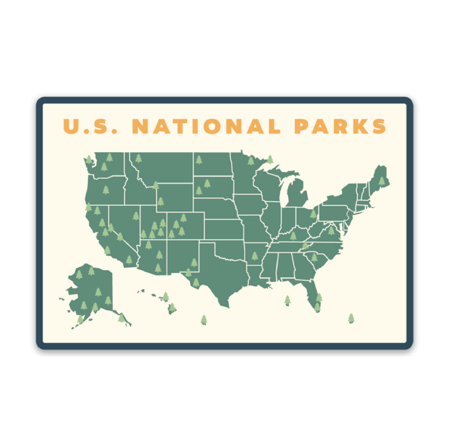 U.S. National Parks Map [Sticker] - CoLab. Print