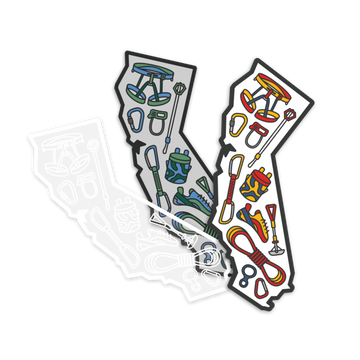 Climb California [Sticker] - CoLab. Print
