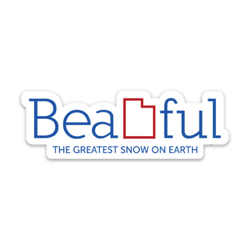BeaUTAHful Snow [Sticker] - CoLab. Print