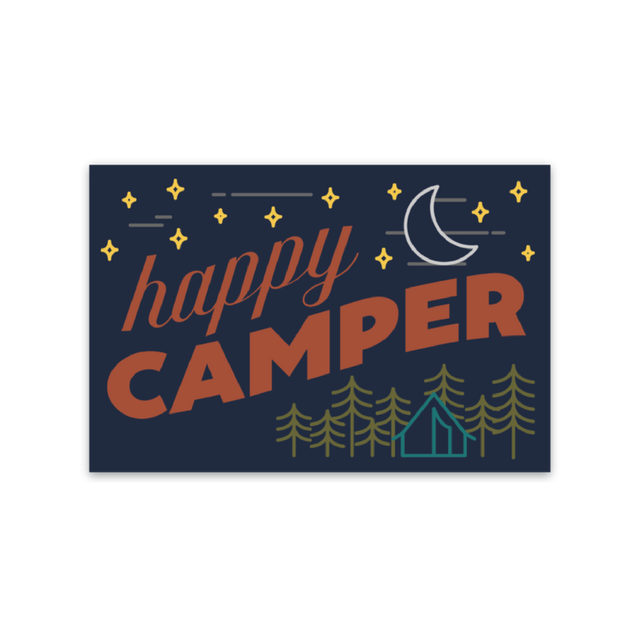 Happy Camper [Sticker] - CoLab. Print