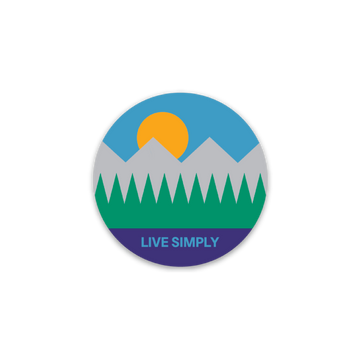Live Simply [Sticker] - CoLab. Print