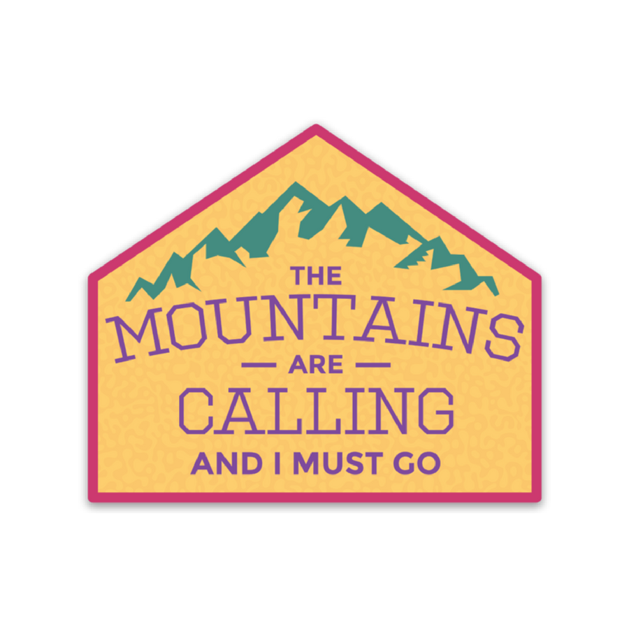 Mountains are Calling [Sticker] - CoLab. Print