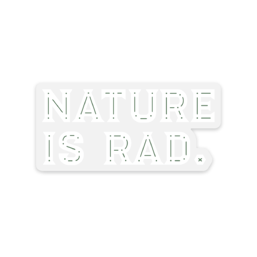 Nature is Rad Clear [Sticker] - CoLab. Print