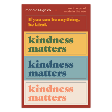 Kindness Matters [Sticker Sheet]