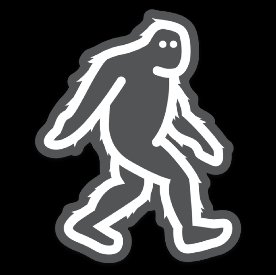 Sasquatch [Clear Sticker] - CoLab. Print