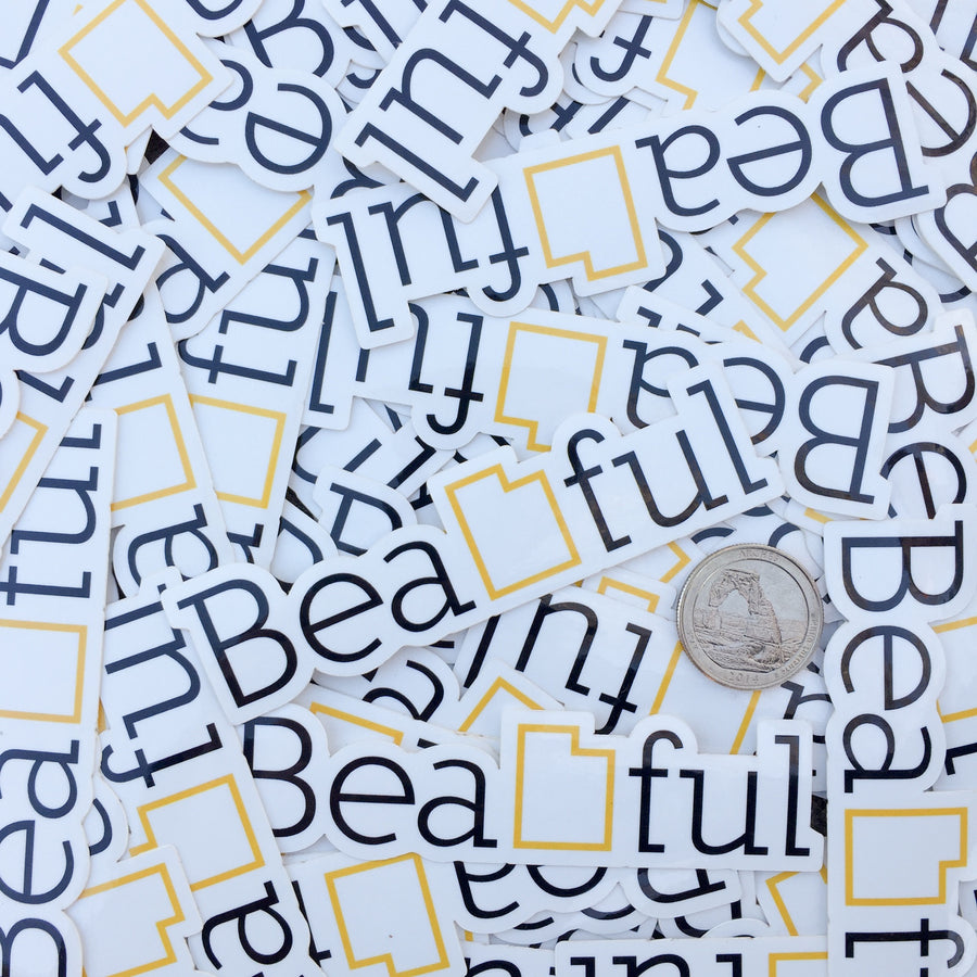 BeaUTAHful [Sticker] - CoLab. Print