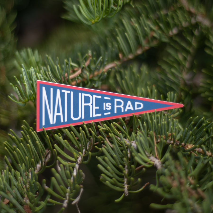 Nature is Rad Pennant [Sticker] - CoLab. Print