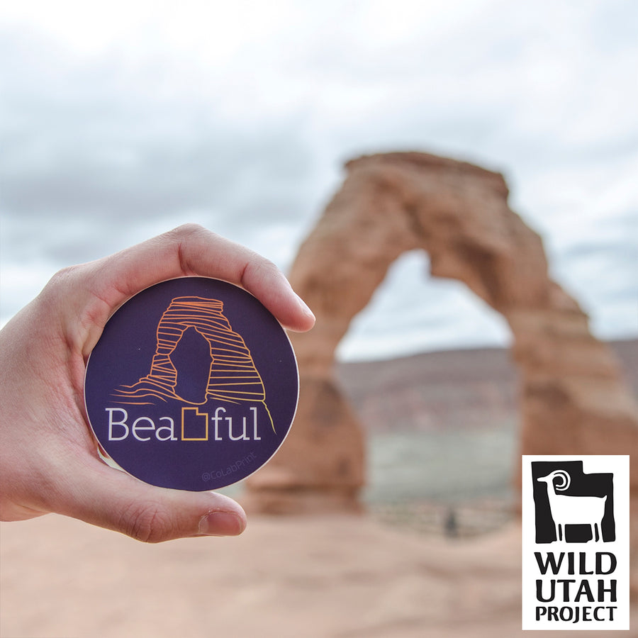 BeaUTAHful Arch [Sticker] - CoLab. Print