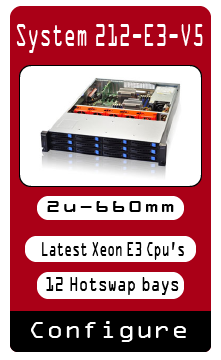12 Hotswap 2u Custom Server Built to Specification Xeon E3 V5