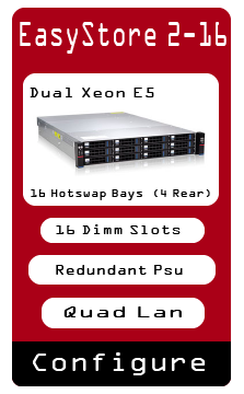 EasyStore 2u 16 Hotswap Bare Bone Server Xeon E5 Redundant Hotswap