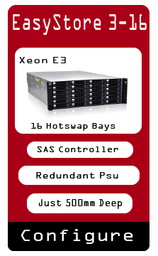 Storage Server Short Xeon E3 SAS Redundant Hotswap
