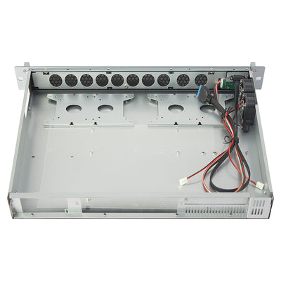 RackPc X140LD 1u Short Chassis - Ideal for desktop Boards. ATX - 400mm -USB3