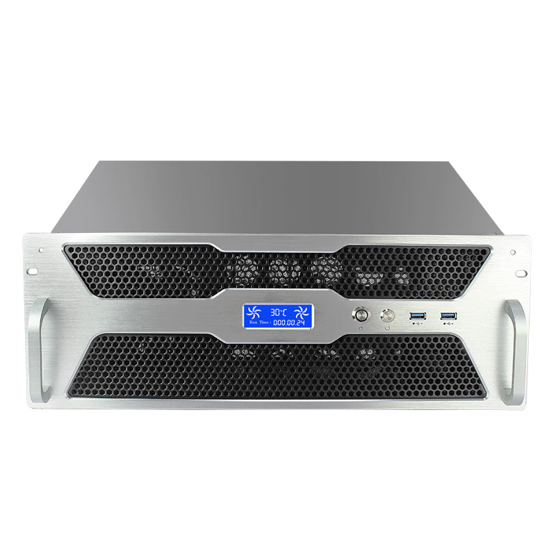 XG430D - 4u Ultra Short - ATX - 7 Expansion Slots- DK Grey Panel