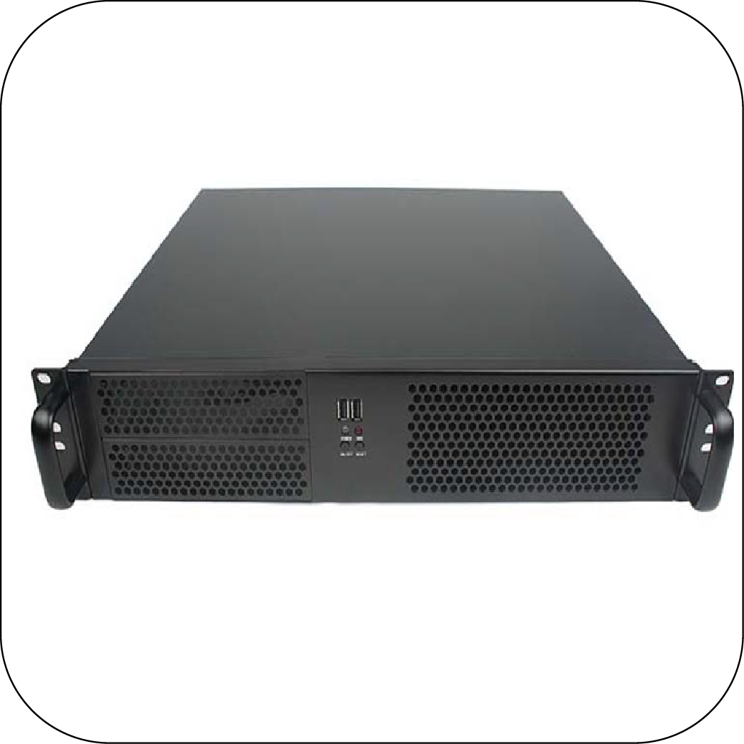 RackPc Chassis  D214 2u Short Rackmount Case With Dual 5.25 Bays USB 3 - X-Case.co.uk Ltd