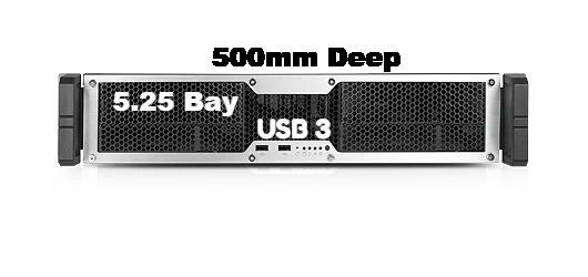 Chenbro RM24200-L - USB 3.0 ,2U w/2 x 5.25 + 1 x 3.5 + 1 x Slim ODD Bay - X-Case.co.uk Ltd