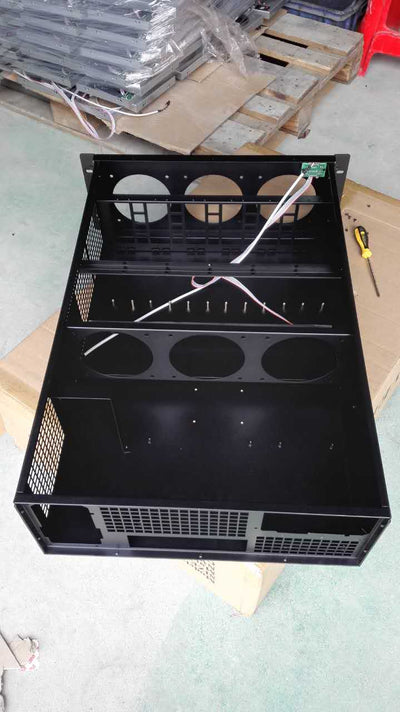 MineStation 3 Mining Case  - 4u 6 cards space for 6 fans - - X-Case.co.uk Ltd