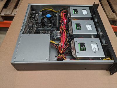 Rack Pc Chassis X245L2 2u Short Rackmount Chassis with 9 Internal 3.5""