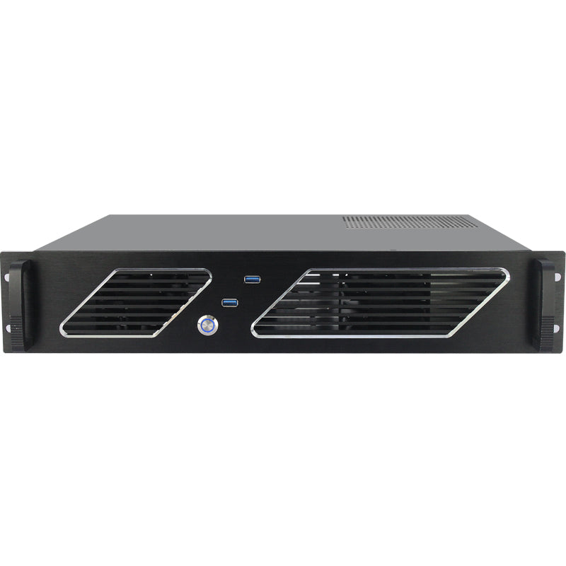 New - X235E 2u Short 350MM Micro Atx USB 3- 120mm ATX Support - X-Case.co.uk Ltd