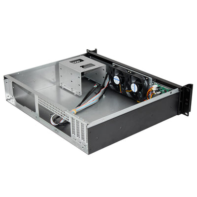 RackPc Chassis XC235L2 Short 2u Matx Motherboard Support - LCD Display -USB 3 - X-Case.co.uk Ltd