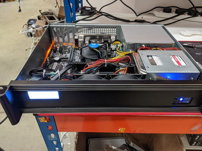 RackPc  2u- Base  Short Depth - Custom Build - X-Case.co.uk Ltd