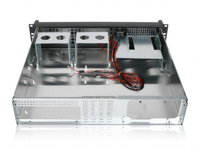 RackPc Chassis Studio 2 - 2u M-ATX Short -Double door Aluminium front panel - X-Case.co.uk Ltd