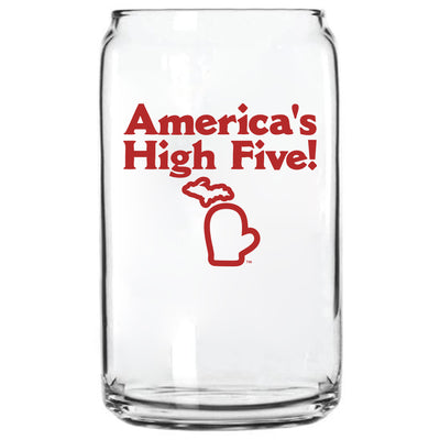 AMERICA'S HIGH FIVE GLASS CAN
