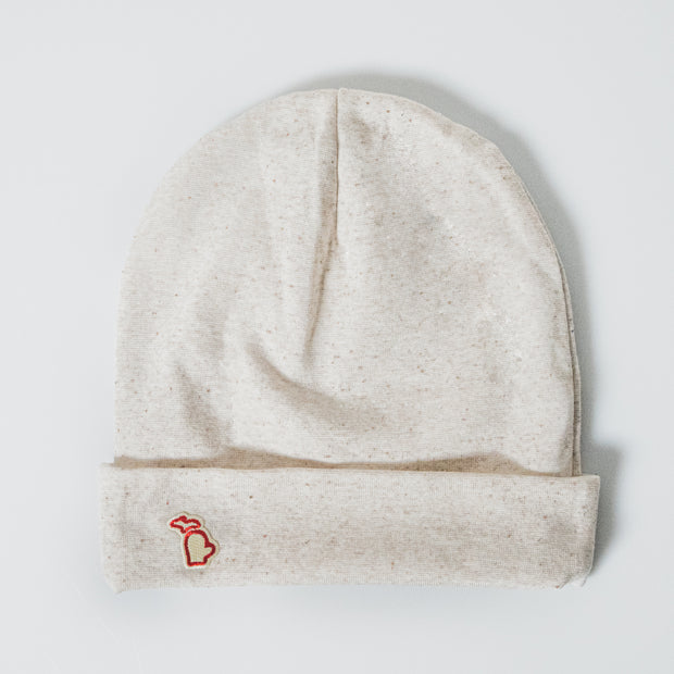 TWO WAY MITTEN BEANIE - OATMEAL (UNISEX)