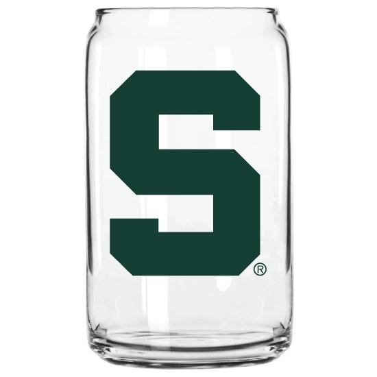 MSU BLOCK S GLASS CAN