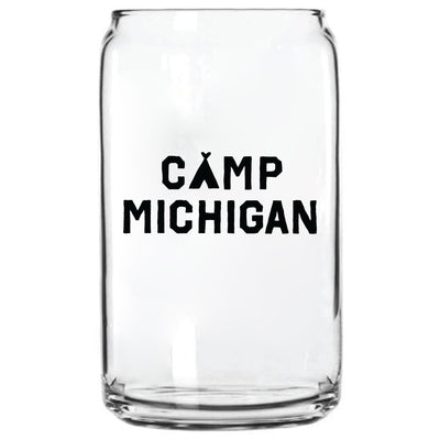 CAMP MICHIGAN GLASS CAN
