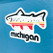 FISH MICHIGAN STICKER
