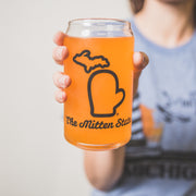 THE MITTEN GLASS CAN
