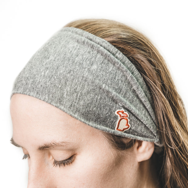 MITTEN HEADBAND - GRAY (WOMEN)